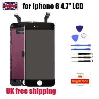 UK LCD Touch Screen Digitizer Display Assembly Replacement foriPhone 6 Black - intl