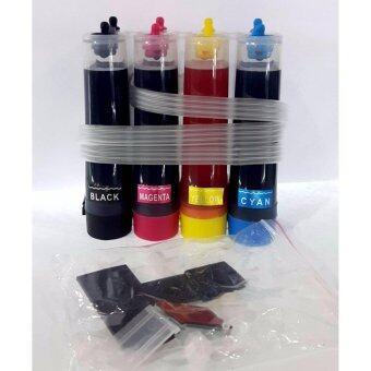 UNIQUE INKTANK ชุดติดตั้งแท้งค์อย่างง่าย4สีพร้อมหมึกเต็มแท้งค์และอุปกรณ์ (เฉพาะCANON HP)