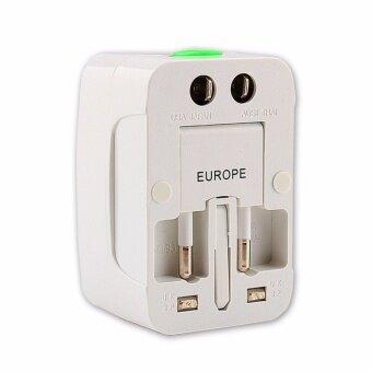 ประเทศไทย Universal Plug Travel Adapter หัวปลั๊ก เอนกประสงค์ (สีขาว)