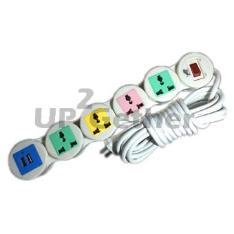 ต้องการขาย Universal ปลั๊กไฟ แบบดัดได้ USB 2 ช่อง 5 เมตร