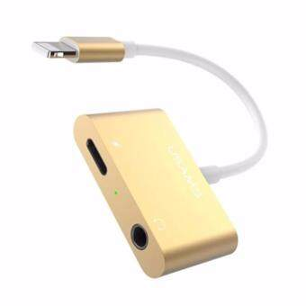USAMS US-SJ107 Digital Audio Converter+Charging for Apple iPhone7/7plus สายแปลงเสียงดิจิตอลสำหรับแอปเปิ้ล เชื่อมต่อหูฟังAUXแจ็ค3.5mm พร้อม ช่องชาร์จ