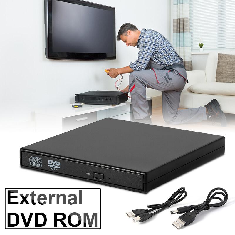 USB 2.0-สลิมแบบพกพาร่มนอก DVD CD-RW เล่นคอมโบไดรฟ์เขียน AC413 - intl