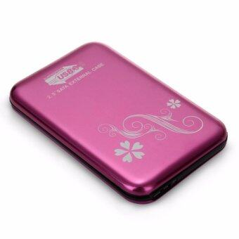 USB 3.0 2.5-Inch SATA HDD Hard Drive Disk Flower Case Box Enclosure External PINK
