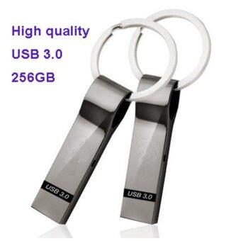 USB 3.0 256GB Flash Drive Pendrive Memory Stick USB Stick Waterproof Silver Metal Key Ring U Disk - intl