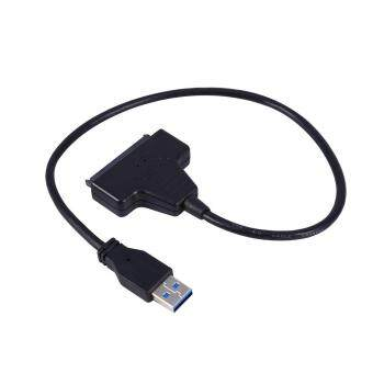 USB 3.0 to SATA 22 Pin Power Adapter Cable for 2.5 HDD SDD HardDisk Drive - intl
