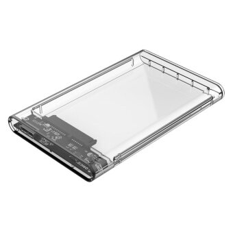 USB3.0 to SATA3.0 External Hard Drive Enclosure Hard Disk Storage Box with SATA to USB Connector Cable Support UASP for 2.5inches HDD and SSD SATA Interface External Gard Drive Clear - 2