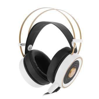 V7 ชุดหูฟังไร้สายสำหรับเล่นเกม LED 5.1 หูฟังเสียงรอบทิศทาง (สีขาว) - intl