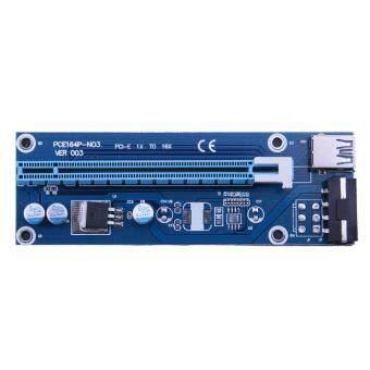 VAKIND USB 3.0 PCI-E เอ็กซ์เพรสขยายไรเซอร์การ์ดอะแดปเตอร์ SATAสายไฟ (60ซม)