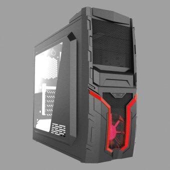 VENUZ Mid Tower Computer Case CSAZ 207S - Red