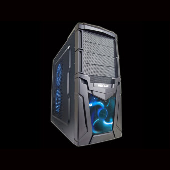 2560 VENUZ Mid Tower Gaming Computer Case VC102 - Blue