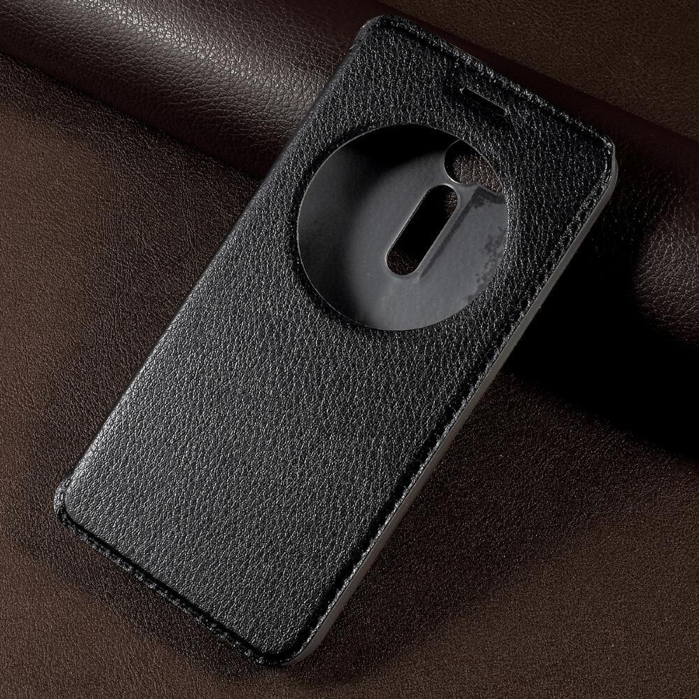 View Window Leather Stand Case For Asus Zenfone 2 Laser Ze600kl Ze601kl Free Zenflash Flip Mobile Phone Cover Zenfonego Zb500kl