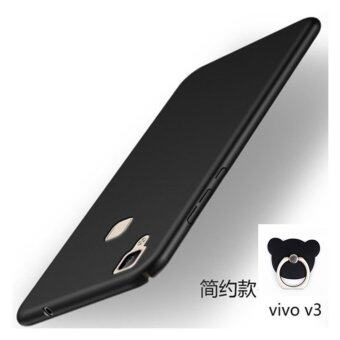 VIVO V3 360 degrees Ultra-thin PC Hard shell phone case/Black+Bearring - intl