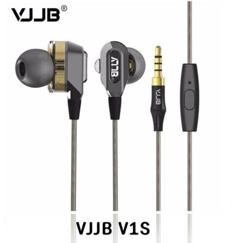 [VJJB] Mobile Earphones V1S Dual Driver System earphones / Deep Bass HIFI perfect sound quality - intl