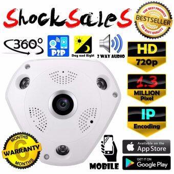 VR CAM CCTV กล้องวงจรปิด IP HD / 960p 1.3 MP ล้านพิกเซล IP กล้อง 720p / 960p เลนส์ 360° + ฟรีอะแดปเตอร์