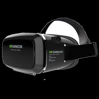 VR SHINECON Virtual Reality Mobile Phone 3D Glasses 3D Movies GamesWith Resin Lens (Black)