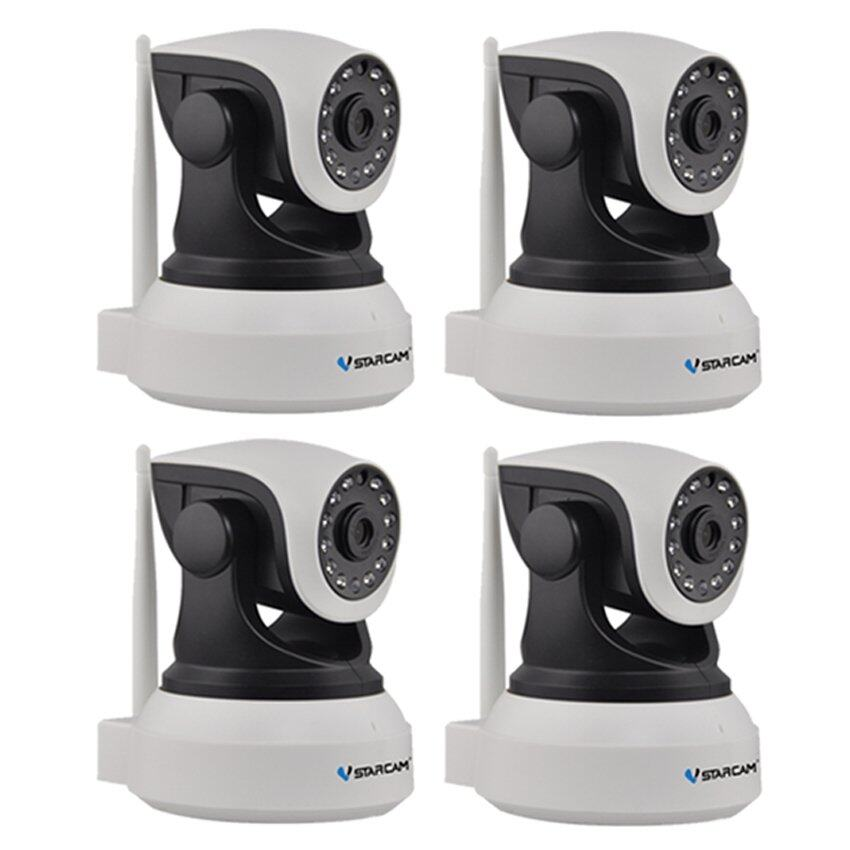 VSTARCAM Eye4 กล้องวงจรปิด IP Camera รุ่น C7824 รองรับ SD CARD 64G 1.0 Mp and IR Cut WIP HD ONVIF – สีขาว/ดำ แพ็ค4 ชิ้น