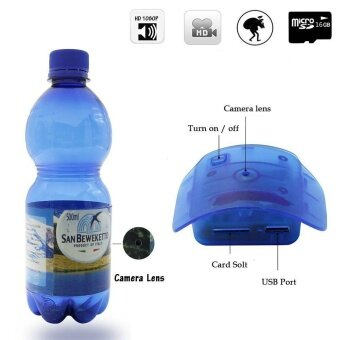 Water Bottle Camera,JDM 1080P HD Portable Plastic Drinking WaterBottle Hidden Spy Camera Super Covert Nanny Cam with 16GB Card(Free) - intl