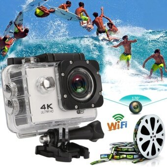 Waterproof 2.0'' SJ8000 4K Ultra HD 170o WiFi Sports DV Action Camera Camcorder white - intl