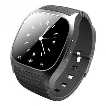 Waterproof Bluetooth Smart Wrist Watch Phone Mate for IOS Android(Black)