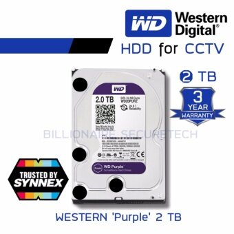 WD Purple 2TB 3.5\ Harddisk for CCTV - WD20PURZ ( สีม่วง ) (by SYNNEX)