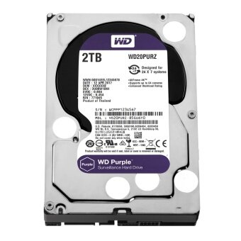 WD Surveillance 2TB for CCTV - Purple (WD20PURZ) SATA 6Gb/s 64MB 3.5""