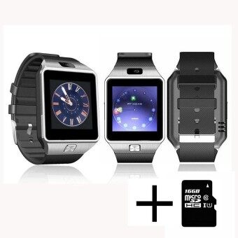 Wearable Devices DZ09 Smart Watch Support SIM TF Card Electronics Wrist Watch Connect Android Smartphone +16GB memory card - intl