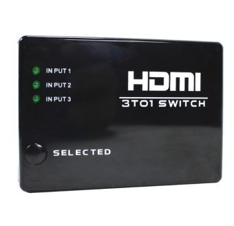 Harga Wellcore/oem HDMI In 3 Out 1 Switch Ultra High Performance (Black)