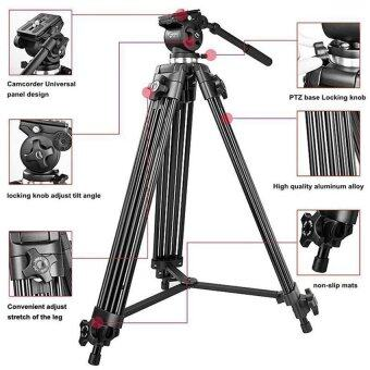 WF-717 Professiona 1.3m Heavy Duty Video Camcorder Tripod&Fluid Video Pan Head - intl