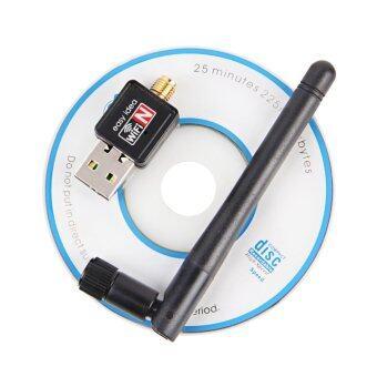 Wifi mini wifi adapter Mini USB WiFi 150Mbps Wireless Adapter 150M Computer LAN Card 802.11n/g/b with Network Card Antenna (Black)