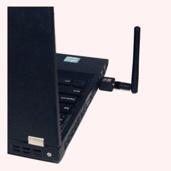 Wifi mini wifi adapter Mini USB WiFi 150Mbps Wireless Adapter 150MComputer LAN Card 802.11n/g/b with Network Card Antenna (Black) (image 3)
