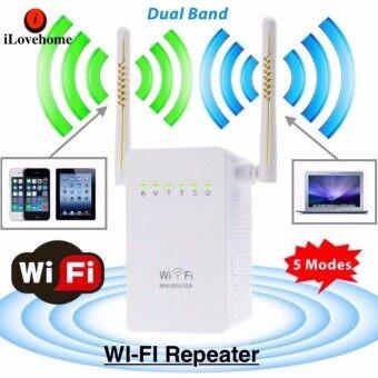 ใหม่ล่าสุด! Wifi Repeater Dual Band อุปกรณ์ขยายสัญญาณไวไฟ แบบมีสองเสา