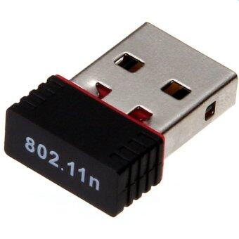 WIFI USB Wireless Network LAN Adapter ตัวรับไวฟายสุดคุ้ม (สีดำ)