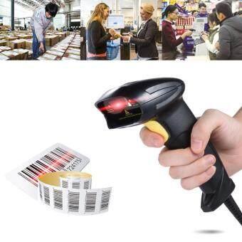 เครื่องสแกนบาร์โค้ดอัตโนมัติแบบสาย USB 2.0 สำหรับห้างสรรพสินค้า ห้องสมุด หรือร้านขายของ (สีดำ)