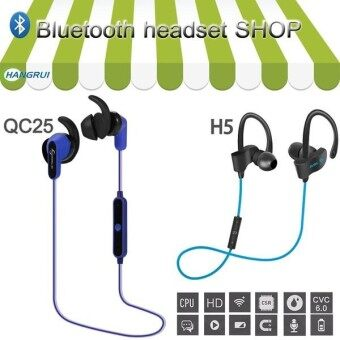 Wireless Bluetooth Headset Shop Waterproof IPX5 Headphones Sports Running Headphones Stereo Earphones Hands-free Microphone - intl