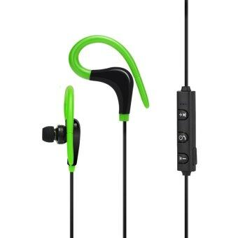 Wireless Bluetooth4.1 Sport Stereo In-Ear Headphone(Green) - intl