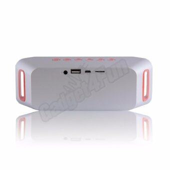 Wireless Speaker Mini Bluetooth Speaker Super Bass ลำโพงบลูธูท รุ่นS204 (สีเงิน) - 4