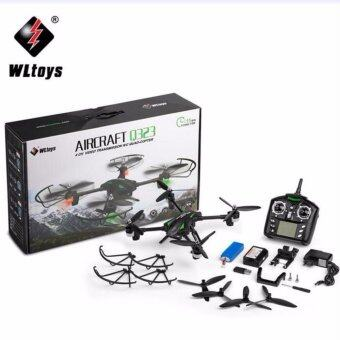 WLtoys โดรนบังคับ บินถ่ายภาพ WLtoys Q323 Q323-B Wifi FPV with 0.3MP Camera Air Press Altitude Hold RC Quadcopter RTF