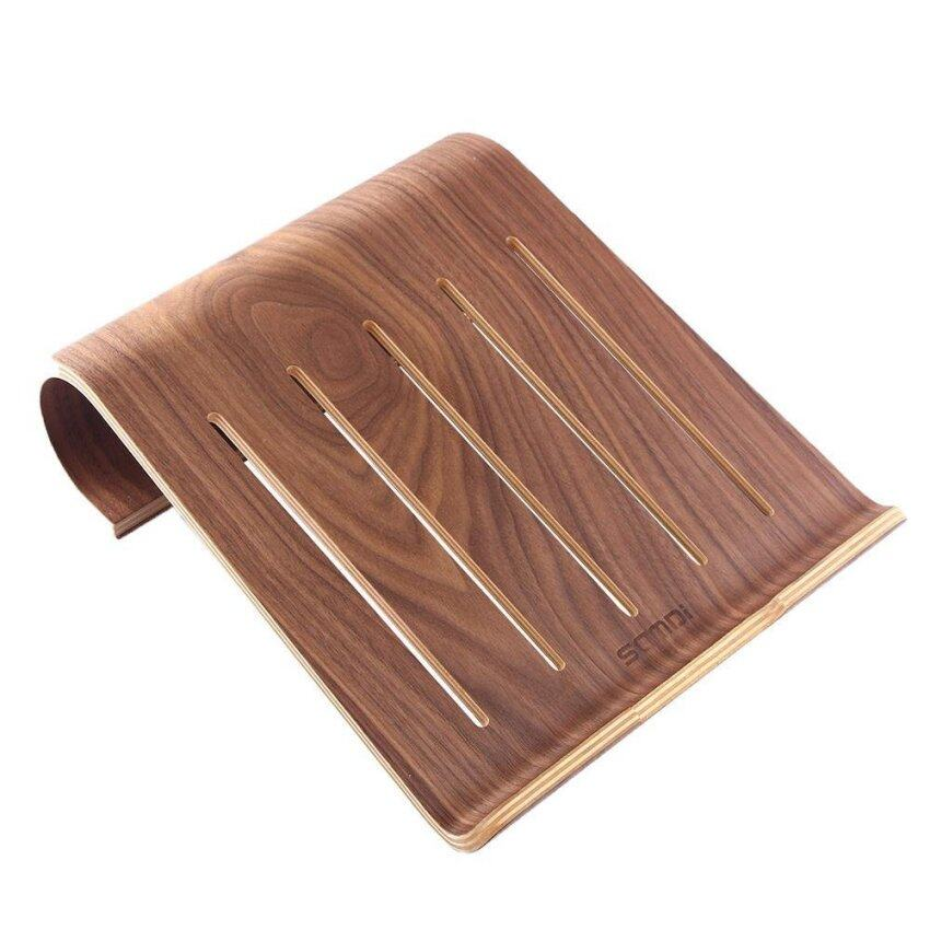 Womdee Wooden Laptop Stand Holder For Macbook Air Macbook Pro IPad Pro Surface Pro Other Laptop Notebook (Walnut ) - intl