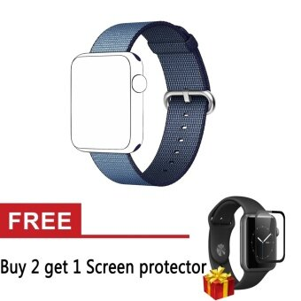 Harga Woven Fabric Loop Strap Nylon Watch Replacement Band for AppleWatch Series 1 Series 2 38mm - intl