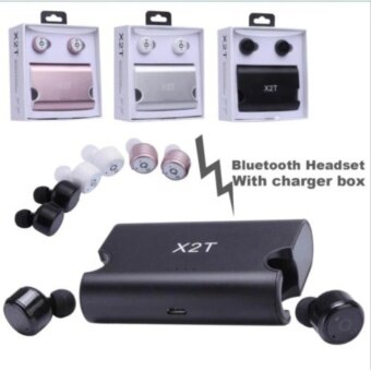 X2T Twins True Wireless Bluetooth Stereo Headset In-Ear Earphones Earbuds หูฟังบลู