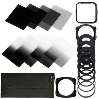 XCSource ชุดเลนส์ฟิลเตอร์ อะแดปเตอร์เลนส์ 20in1 Neutral Density NDFilter Kit สำหรับ Cokin P Set SLR DSLR Camera Lens