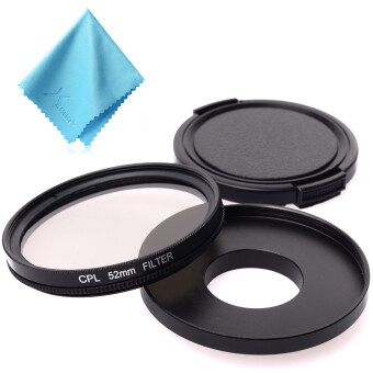 XCSource เลนส์กล้อง 52mm CPL Filter Set Adapter + CPL Filter + LensCap สำหรับ GoPro Hero 3 3+ 4