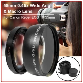 XCSource เลนส์มุมกว้าง 58mm 0.45x สำหรับ Canon 5D 6D 7D 60D 70D600D 700D 1100D