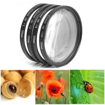 XCSource เลนส์มาโคร 58mm Macro Close Up Lens Filter Kit +1+2+4+10 +ซองใส่ สำหรับ Canon 18-55mm 50mm