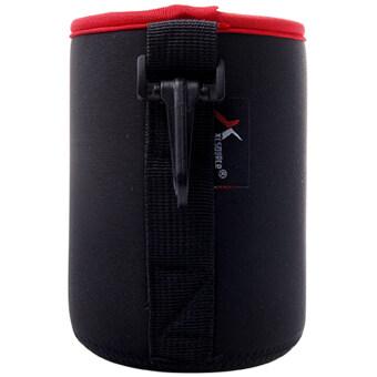 XCSource ถุงใส่เลนส์ กระเป๋าใส่เลนส์ Neoprene DSLR Soft Lens PouchCase Bag + Belt Loop M