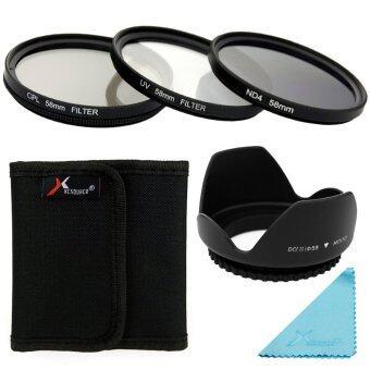 Xcsource ชุดเลนส์ UV CPL ND4 Filter Set + Lens Hood 58mm สำหรับ Canon 70D 60D 700D 650D 600D