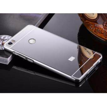 Xiaomi Mi Max Luxury Metal and Acrylic Mirror Case สีเงิน