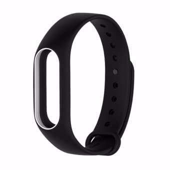 Xiaomi สายรัดข้อมือ Wristband Strap for Xiaomi Mi Band 2 (Black White)