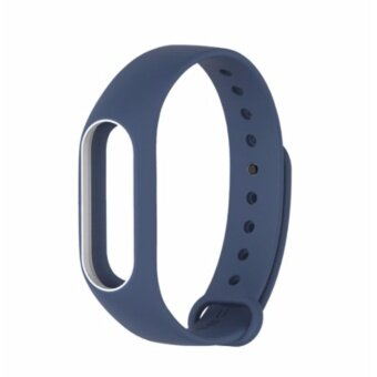 Xiaomi สายรัดข้อมือ Wristband Strap for Xiaomi Mi Band 2 (Blue White)