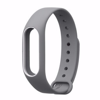 Xiaomi สายรัดข้อมือ Wristband Strap for Xiaomi Mi Band 2 (Grey White)